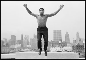 Ali jumping Hoepker