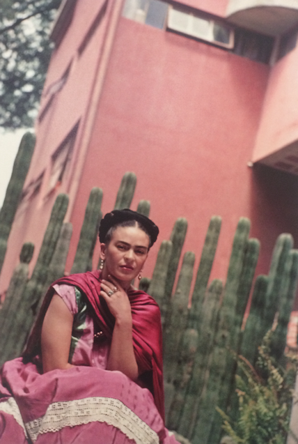 Frida Kahlo in front of the Cactus Organ Fence Vintage Photo Print 1938