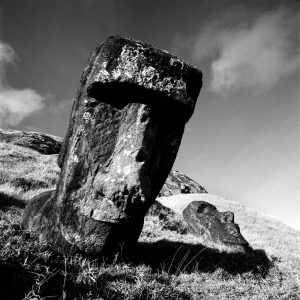 Moai at Ranku Ranuku, Rapu Nui -1 - Easter Island