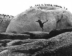 November-Girl-Birds-on-Rocks Sam Haskins