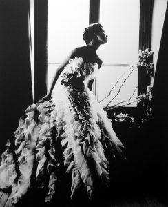 Fantasy On The Dance Floor - Barbara Mullen in a Christian Dior Dress, Paris. Harper's Bazaar, 1949