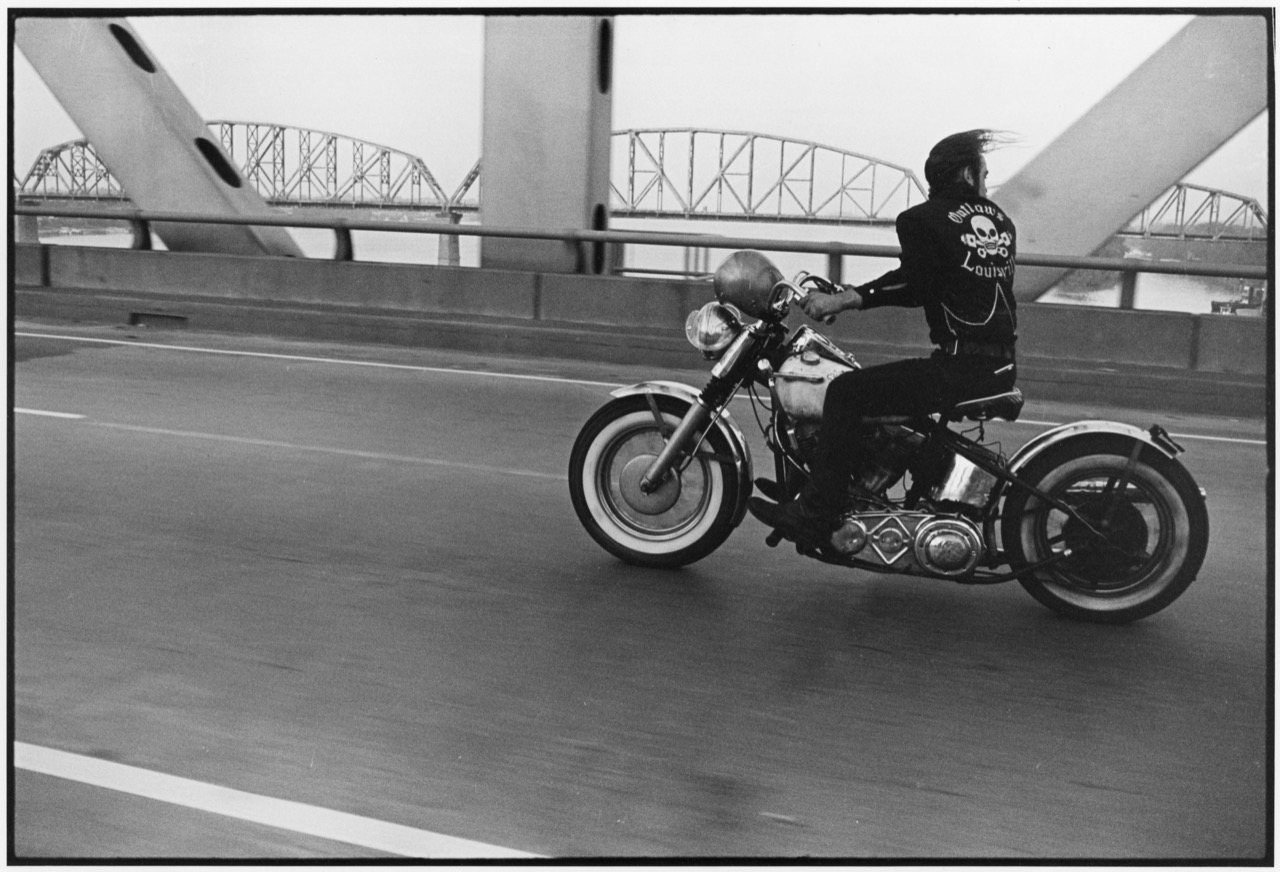 Danny Lyon Crossing the Ohio River near Louisville, 1966