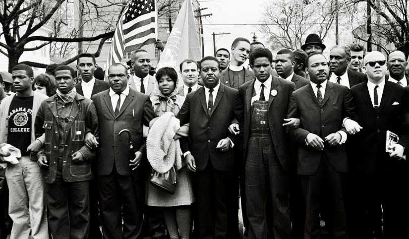 Martin Luther King Jr. and Group Entering Montgomery, 1965 Schapiro